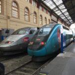 マルセイユからパリへ鉄道(TGV)で移動