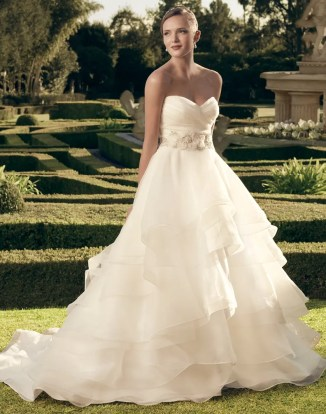 Casablanca bridal organza princess ballgown wedding dress