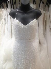 white beaded sequin wedding gown by Karen Willis Holmes