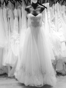 Ballgown wedding dress with beaded bodice by Casablanca