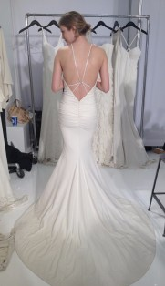 Nicole Miller Bridal low back silk spandex wedding dress