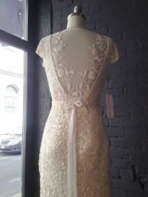 Karen Willis Holmes beaded sequin dress with illusion back