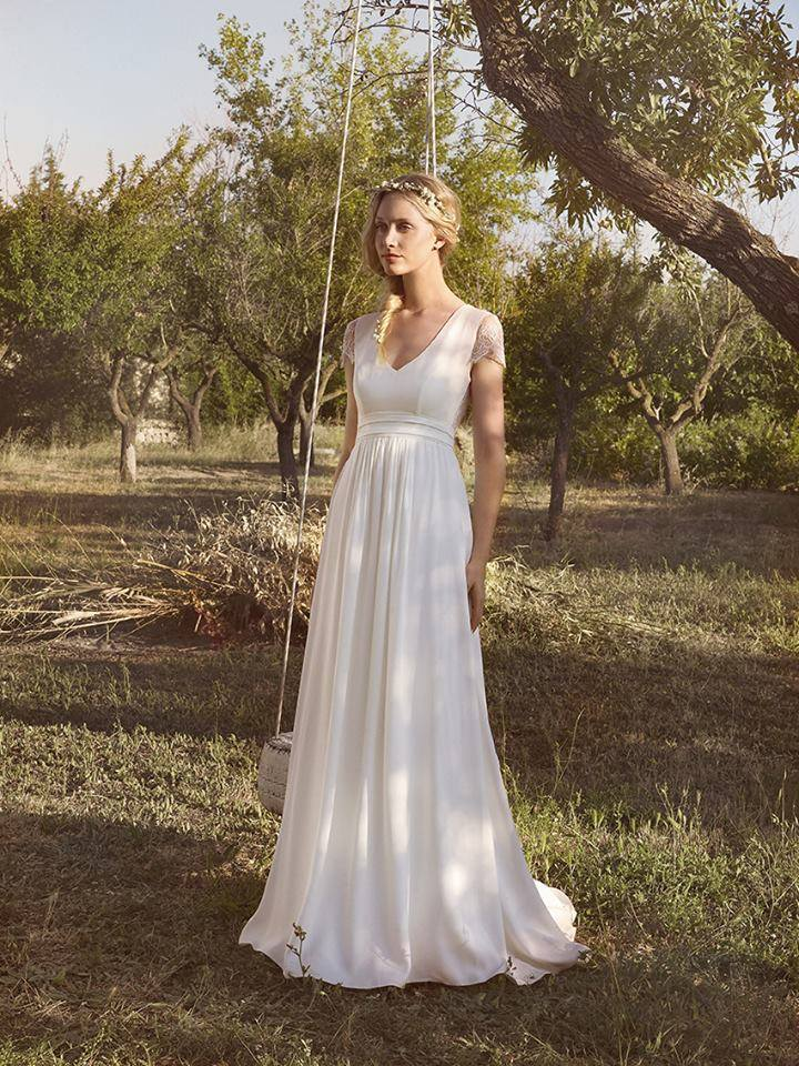 Rembo Styling cap sleeve aline gown Spring 2016