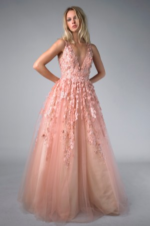 Colored ballgown wedding dress at Masako Formals BHLDN