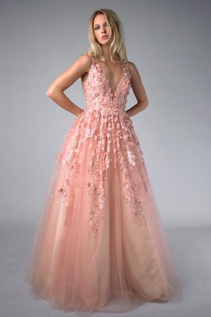 Colored ballgown wedding dress at Masako Formals BHLDN