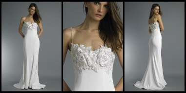 Lightweight, beach wedding dress at Masako Formals Honolulu, Hawaii