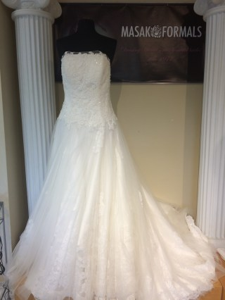 Victoria's Bridal 8296 sz14 IVY $1379 (1)