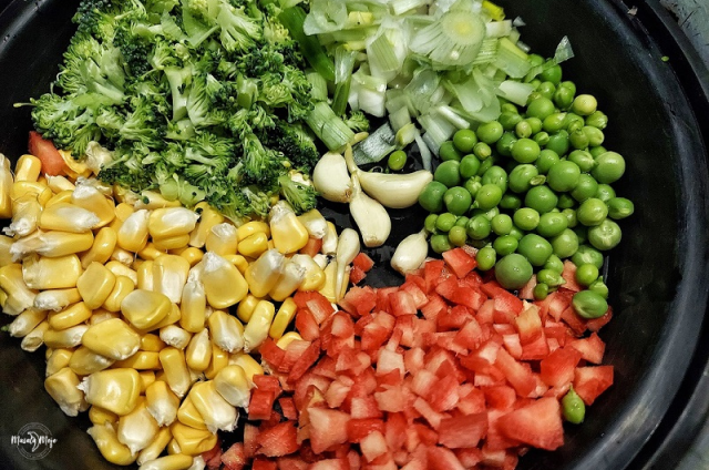 Prep the veggies for your Sweet Corn Soup
