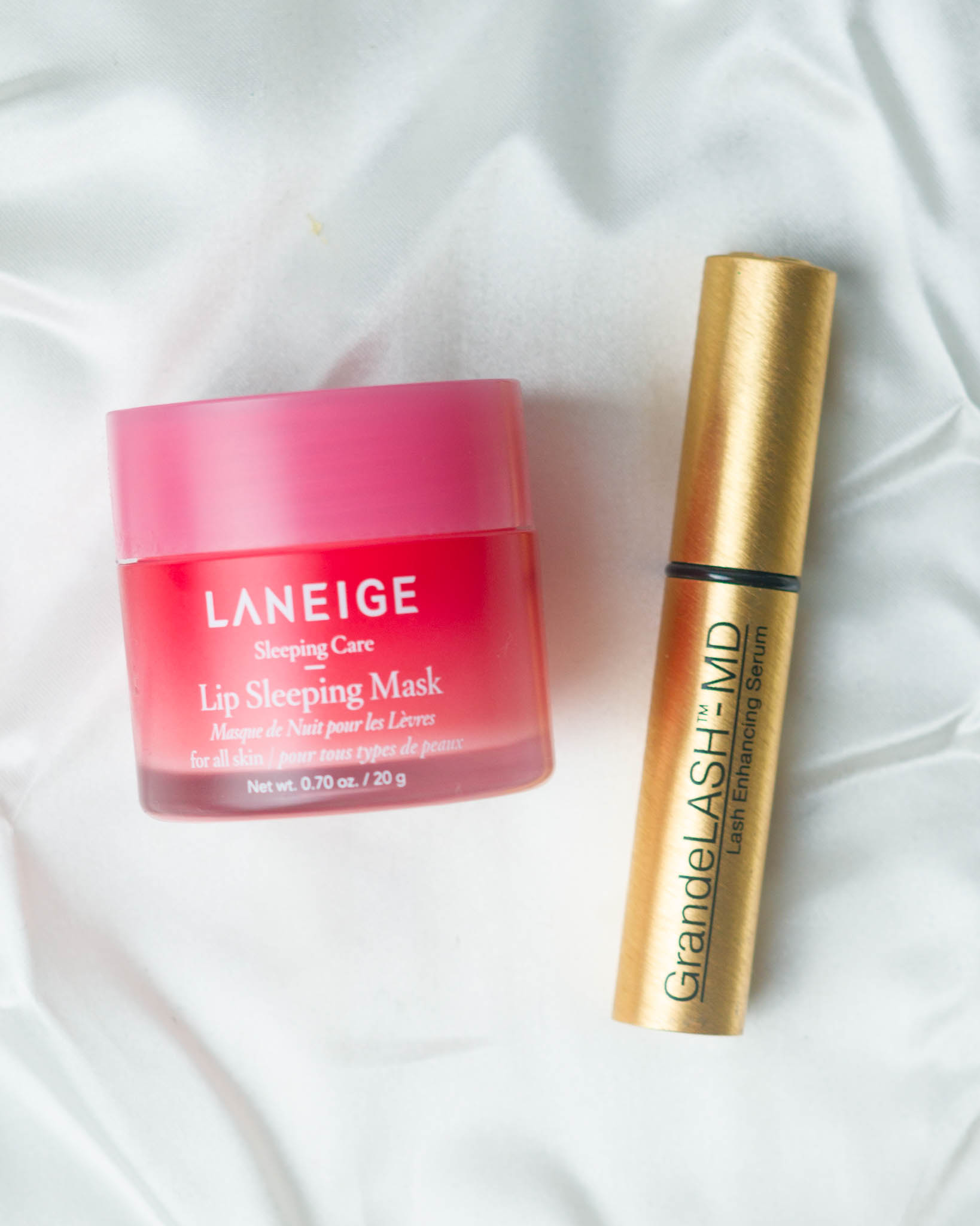 Laneige Lip Sleeping Mask and GrandeLASH Lash Enhancing Serum
