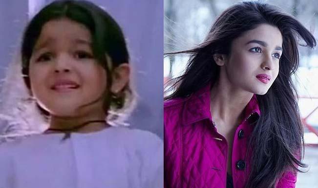 childhood image of alia bhatt