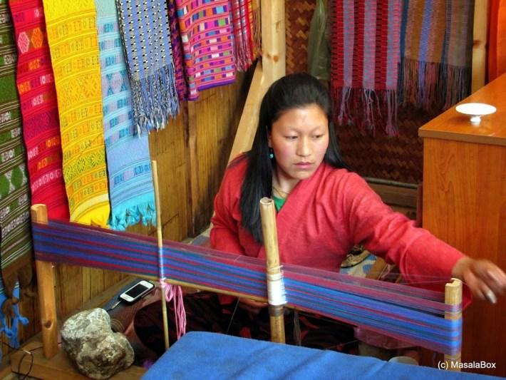 Weaving of Bhutanese Rachu