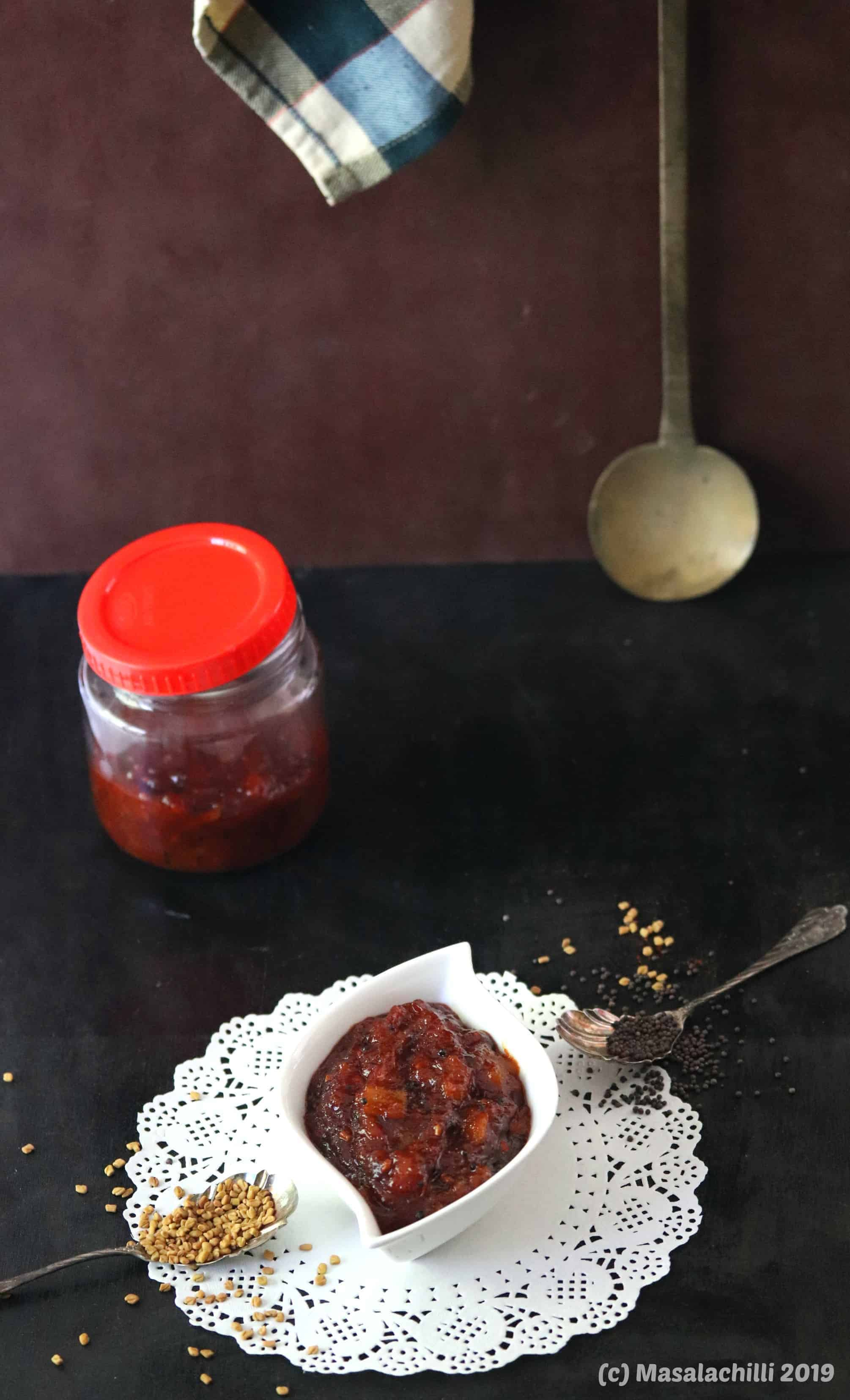 Methamba  (Sour Spicy Sweet Raw Mango Relish of Maharashtra)