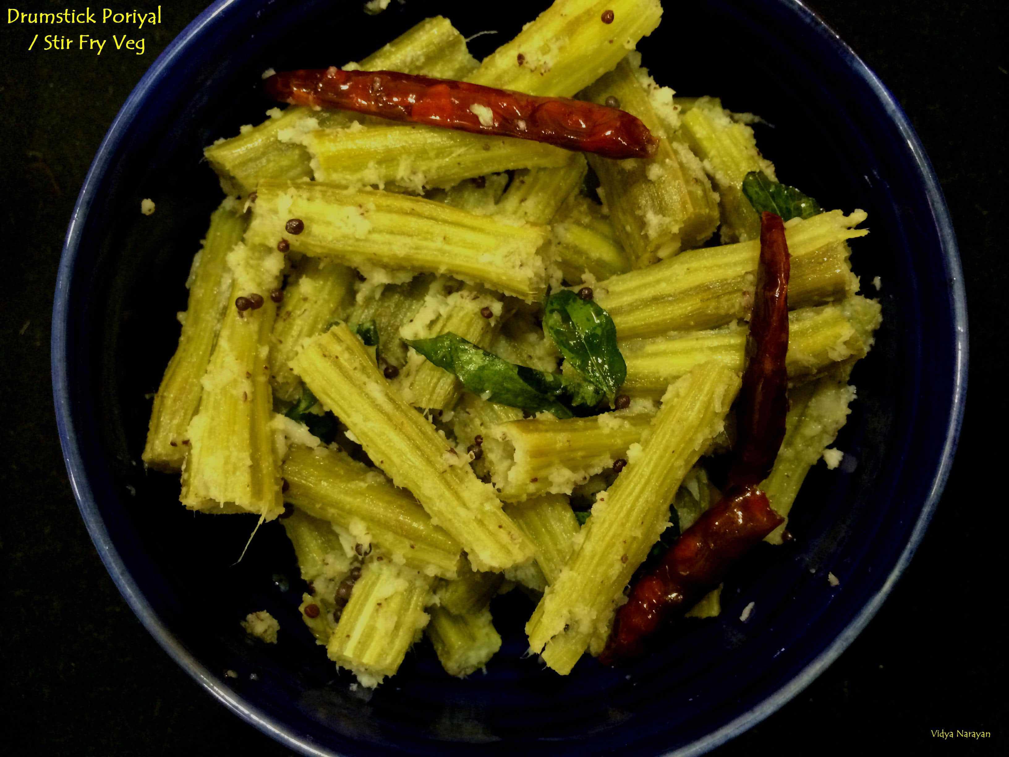Drumsticks Poriyal (South Style Stir fry)