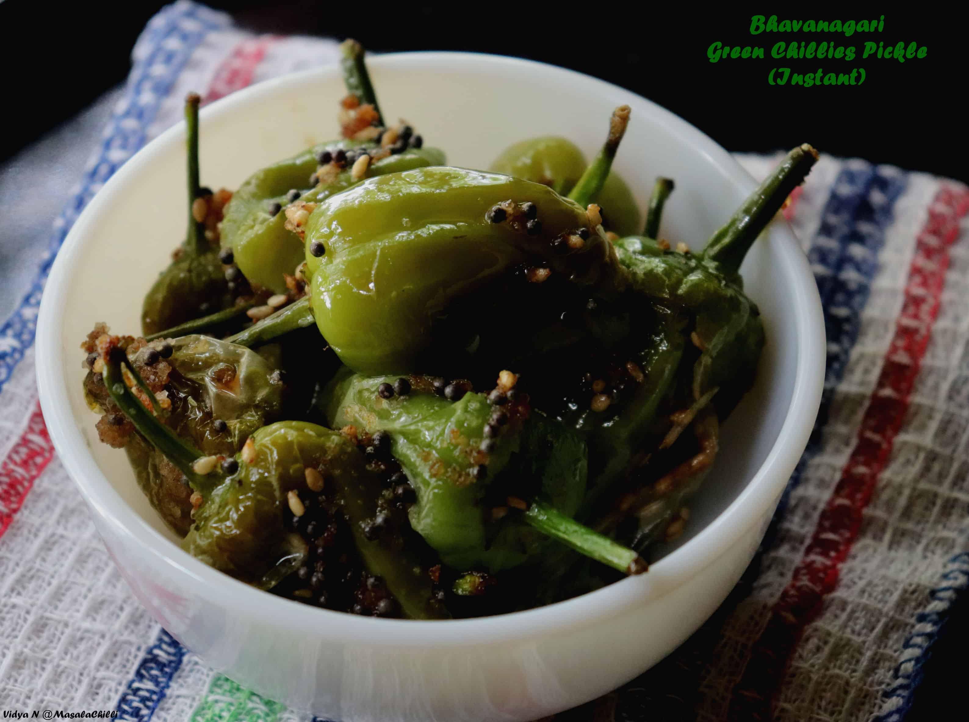 Bhavanagari Green Chillies Pickle (Instant)
