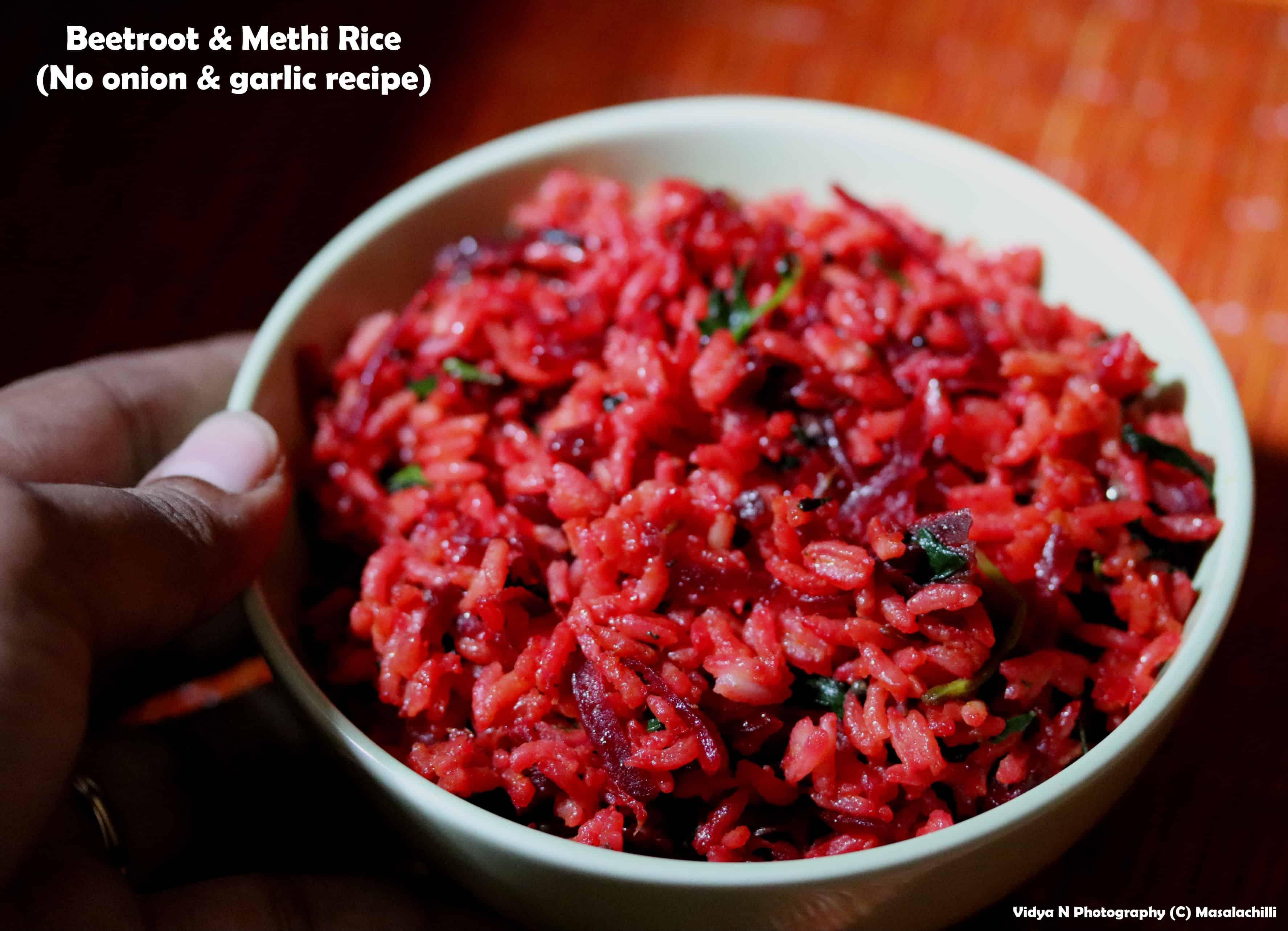 Beetroot Methi Rice (leftover rice recipe)