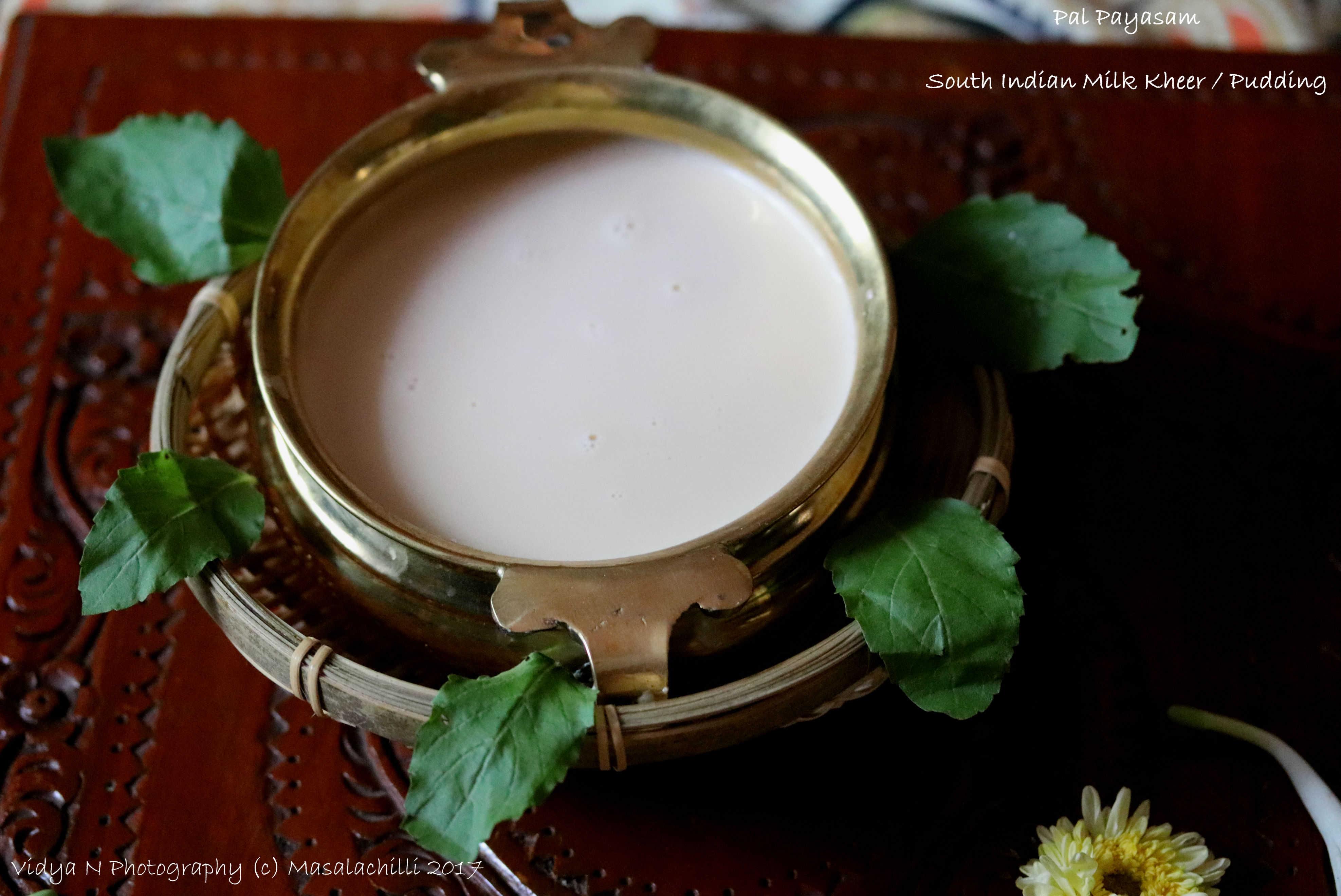 Pal Payasam or South Indian Kheer (Pressure Cooker Method)