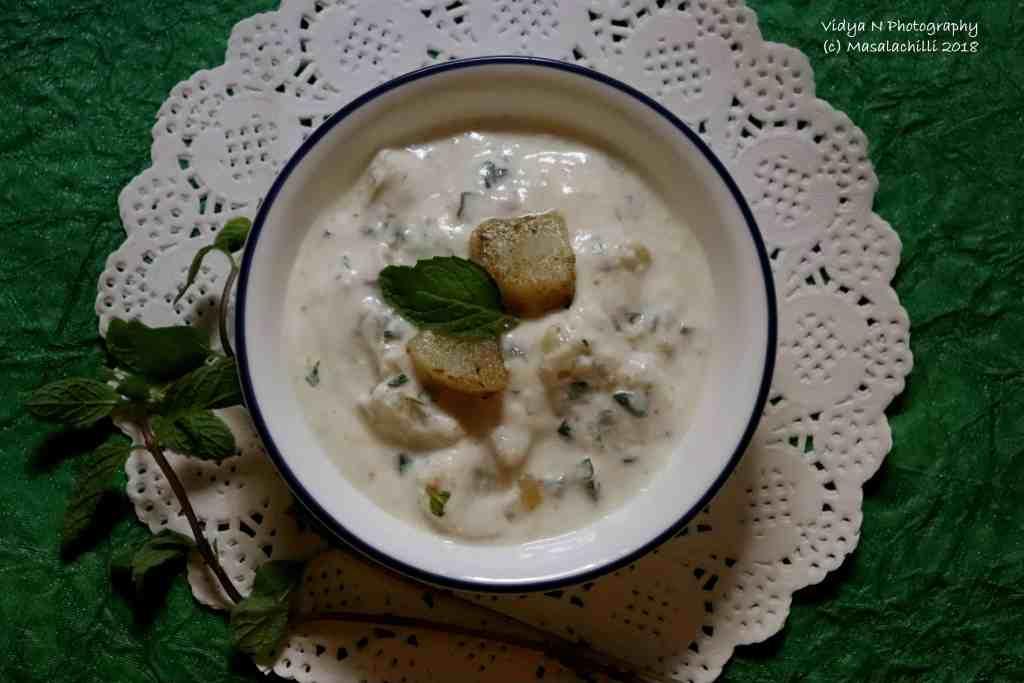 Potato Mint Raita / Aloo Pudine ka Raita