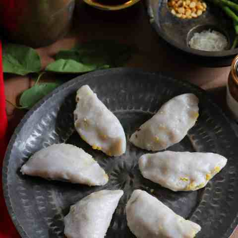 Dal Pitha Traditional Savoury and steamed snack from Bihar and Jharkhand