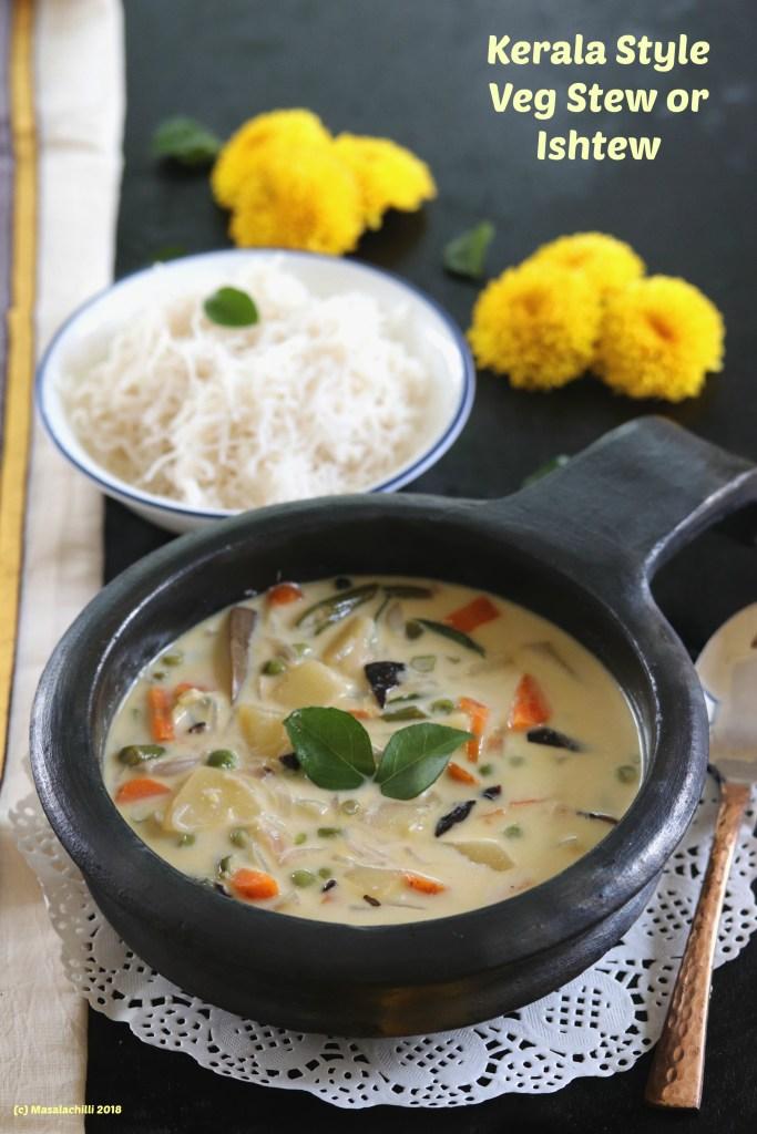 Kerala Style Vegetarian Stew or Ishtew Recipe