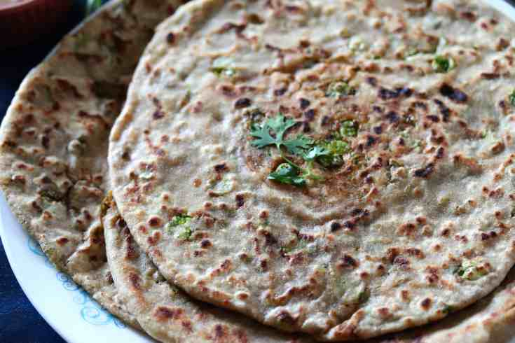 How to make aloo peas paratha