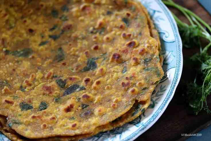 Missi Roti Recipe, A popular North Indian Flatbread Recipe also known as Masala Roti