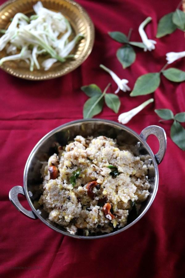 Samba Wheat Rava Pongal