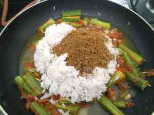 Basmati Rice and Goda masala for flavour