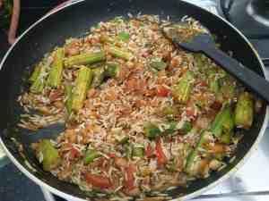 One pot vegetarian Lunch Shenga Masale Bhat