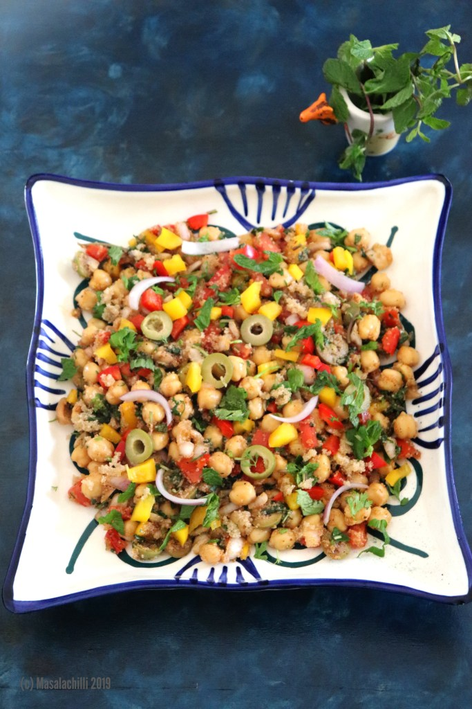 Mediterranean Chickpea Salad with Amaranth Couscous