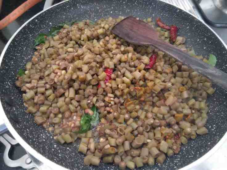 Cooked payar sauteed in coconut oil