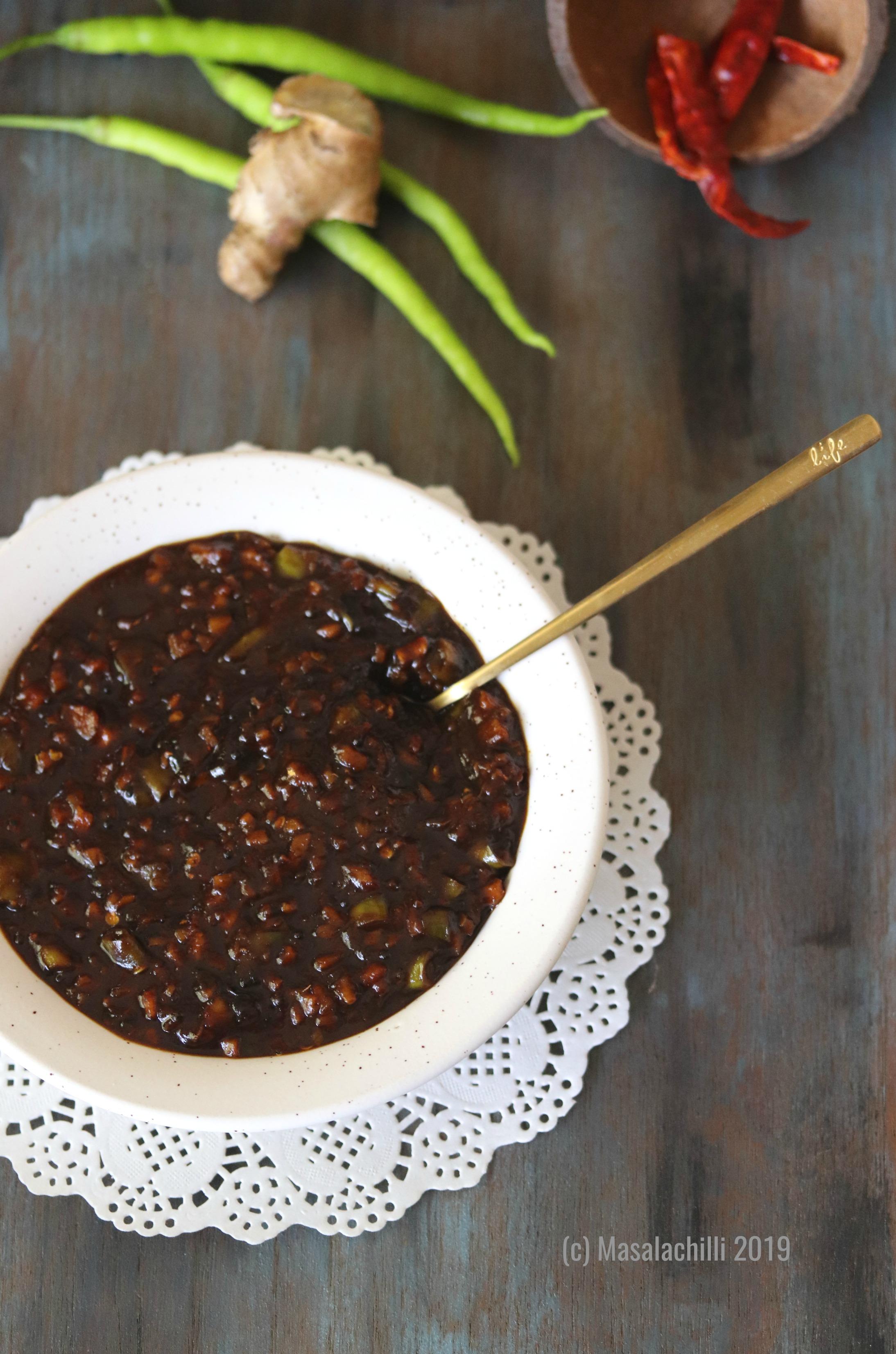 Puli Inji / Kerala Sweet and Sour Ginger Pickle for Sadya