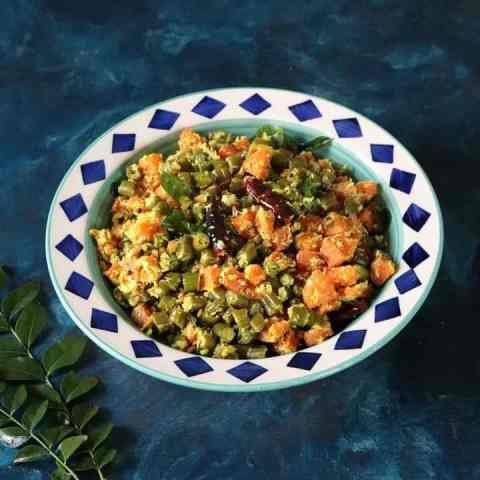 Beans Carrot Thoran Recipe