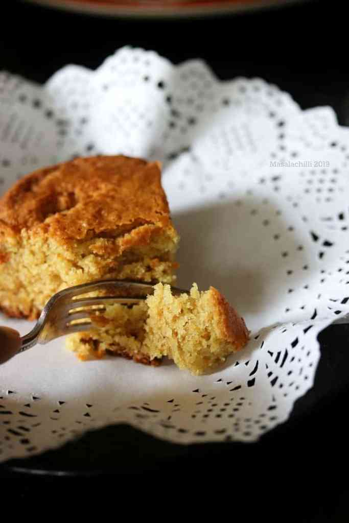 Eggless Coconut Cake Recipe (Whole Wheat and Butter Free)