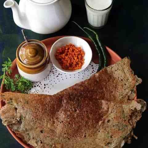 Kambu Dosai or Bajra Flour Dosa