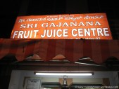 The bright board of a Fruit juice center :-)