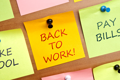 bigstock-Back-to-work-post-it-on-wooden-27130640