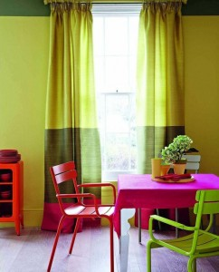 Holi Colors in the Dining Room