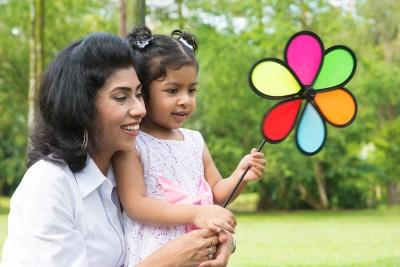 Indian famliy; mom; daughter
