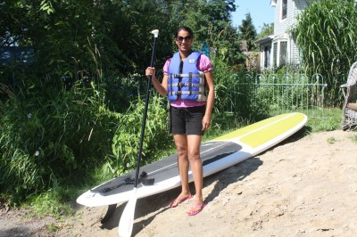 Jasjit Sangha with paddleboat