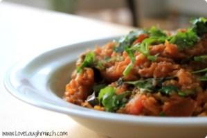 Kadoo ki saabzi (spiced pumpkin curry)