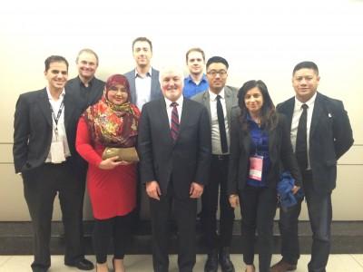 Canadian Media Crew with President of General Motors of Canada Ltd, Stephen Carlisle