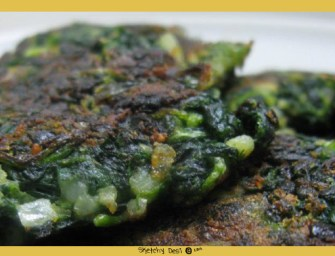 Spinach Patties Masala Style!
