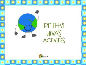 Prithvi Divas (Earth Day) Activities for Kids
