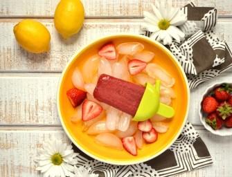 Recipe: Juicy Strawberry Lemon Popsicles