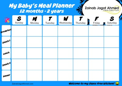 Baby's Meal Planner 12 months-2 years