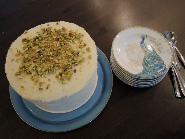 cardamom cream cake made from ras malai
