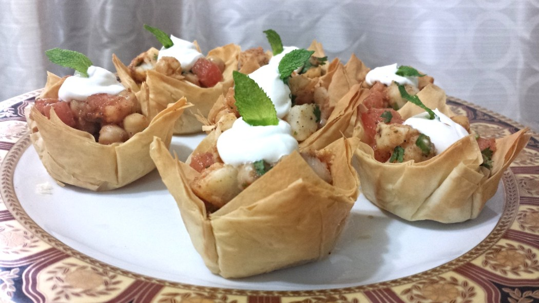 Cholay chaat cups 2