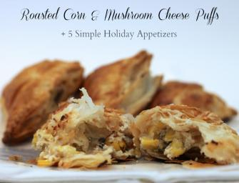 Roasted Corn and Mushroom Cheese Puffs