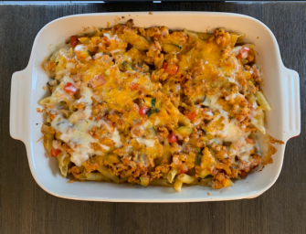 Turkey Casserole with Pasta and a hint of Garam Masala