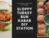Street food at Home: Sloppy Turkey Bun Kabab DIY Station